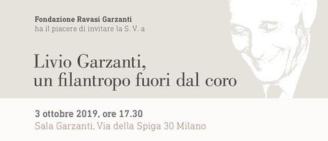 Livio Garzanti: un filantropo fuori da coro